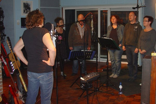 Opname 'In this heart' in de studio